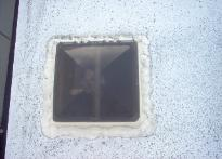 RV roofing skylight before